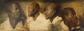 Peter Paul Rubens, Four Studies of a Male Head