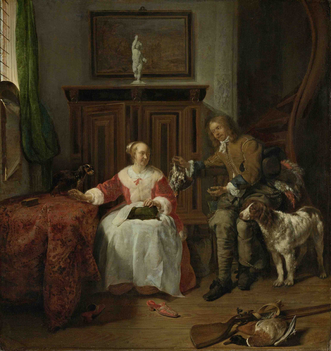 Gabriël Metsu, The Hunter's Present
