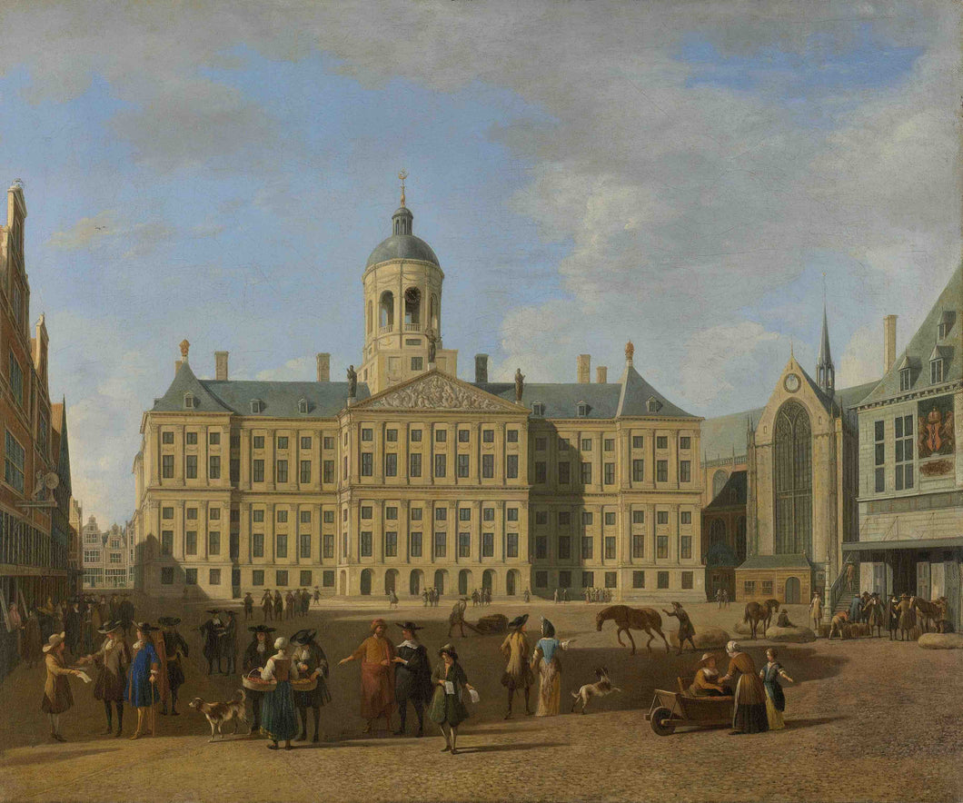 Gerrit Berckheyde, The Town Hall on the Dam