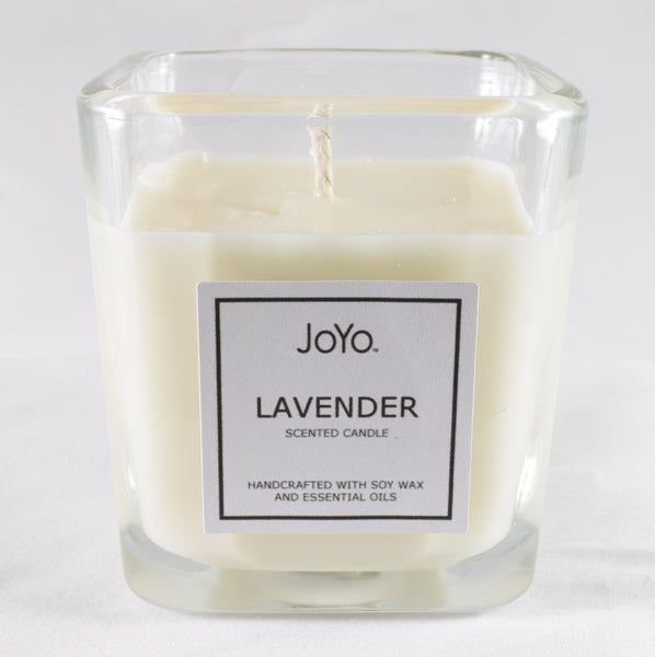 Lavender scented natural soy candle from JoYo Beauty