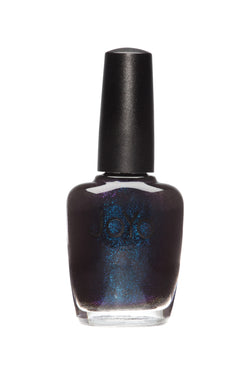 black nail polish - Starry Midnight Black by JoYo