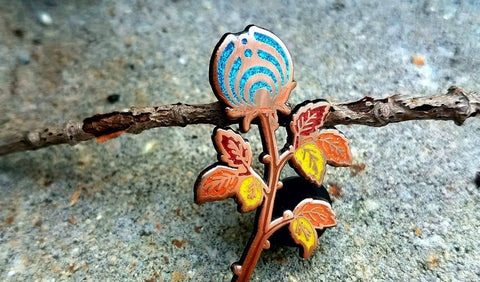 Sapphire Blue Rosebud Nectar Autumn Collection Bassnectar Rose Hatpins - the Mad Genius store