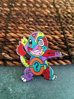 Areh Charmander Pokemon Abstract Limited Edition Original Art Pin - The Mad Genius Store