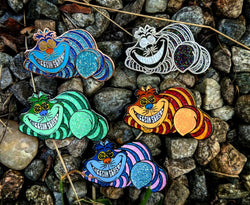 HatPins - The Cheesin Season Fleet -  Cheshire Cat Alice In Wonderland Cat String Cheese Incident Hat Pins