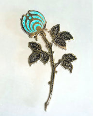 Black Frosty Buds Rosebud Nectar Open Edition Bassnectar Flower Hatpin