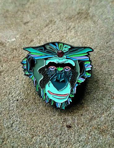 Bonobo GBUC Fanart Psychedelic Face Hatpin - The Mad Genius Store