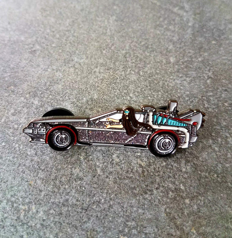 Lorin in a Delorean! Bassnectar Back to the Future Mashup Pin - The Mad Genius Store