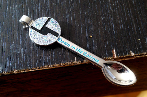 Disco Biscuits Down to the Bottom Silver Ed. Spoon Pendant - The Mad Genius Store