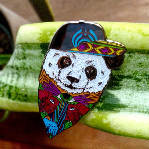 BassPanda Bassnectar Festival Panda Hat Pin - The Mad Genius Store