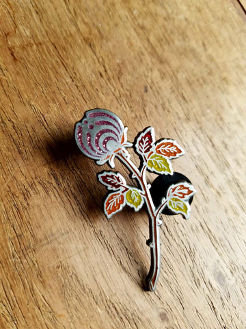 AE10 of The Cabernet Autumn Rosebud Nectar Flower Bassnectar Hat Pin - The Mad Genius Store