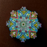 "Whitaker's ""Blooming Lotus V3"" Color Edition Only 175 Made 2"" Mandala Hat Pin - The Mad Genius Store"