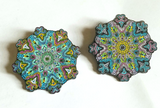 "Pair of V3 & V4 Whitaker's ""Blooming Lotus"" LE175 2"" Mandala Hat Pins - The Mad Genius Store"