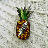 Skeleton & Roses Pineapple Grateful Dead Hatpin