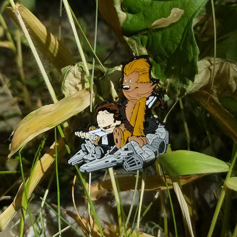 Han Solo & Chewbacca Millennium Falcon Calvin and Hobbes Star Wars Hatpin