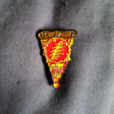 Steal Your Pizza Grateful Dead Enamel Pin - Mad Genius Creations