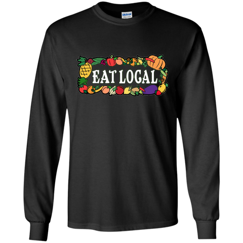 The Eat Local Longsleeve T-Shirt - The Mad Genius Store