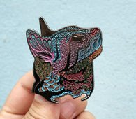 Night - Meow...? Psychedelic Cat Pin - The Mad Genius Store