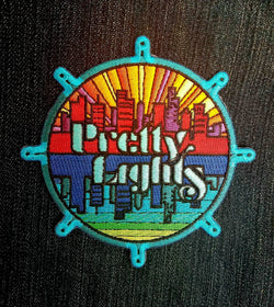 Patches - Pretty Lights Embroidered Patch (Iron-on) ~4""