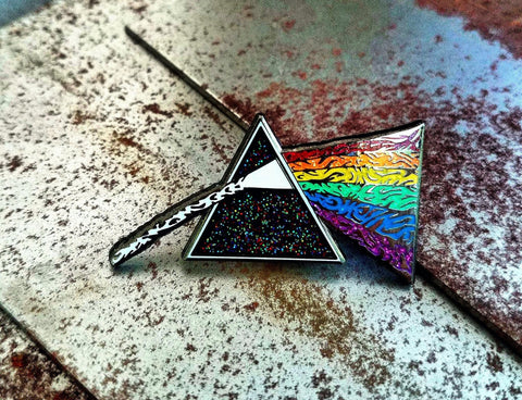 Pins - Dark Side Of The Moon V2 By Dominik Lupo Hard Enamel Pink Floyd Hatpin