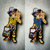 Pins - Gorillaz 2D Hunter S. Thompson Mashup HST Glitter Hat Pin