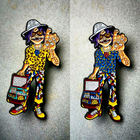 Gorillaz 2D Hunter S. Thompson Mashup HST Hat Pin - The Mad Genius Store