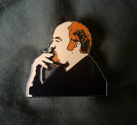 "Louie C.K. Spliff in Hand 1.5"" Hard Enamel Hat Pin - The Mad Genius Store"