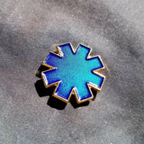 "The ""Asterisk"" in Blue Translucent Enamel 