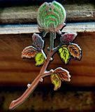 The Emerald Autumn Rosebud Nectar Flower Bassnectar Hat Pin - The Mad Genius Store