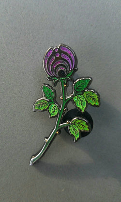 "Pins - The Purple ""Rosebud Nectar"" Glitter Limited Edition Bassnectar Hat Pin"