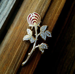 "White Rose ""Rosebud Nectar"" Open Edition Bassnectar Flower Hatpin"