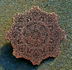 "Pins - Whitaker's ""Blooming Lotus"" Raw Antiq. Copper Edition Hat Pin"