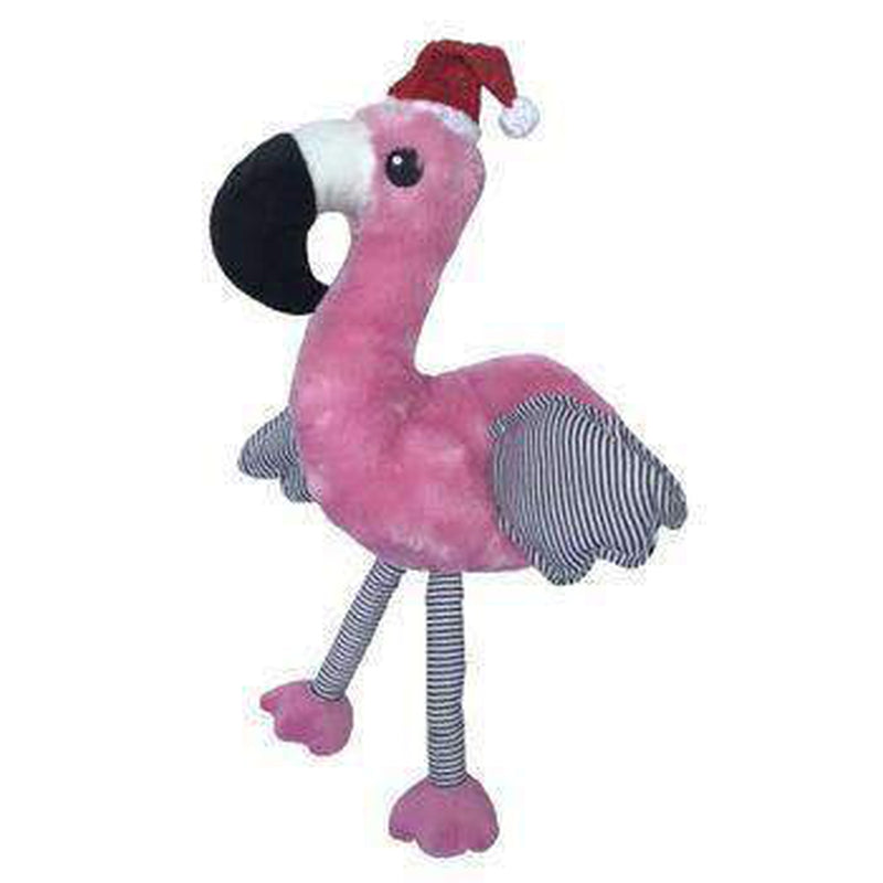 Plush Christmas Flamingo Dog Toy, Pet Toys, Furbabeez, [tag]