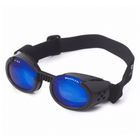 Doggles - ILS2 Shiny Black Frame with Mirror Blue Lens, Pet Accessories, Furbabeez, [tag]