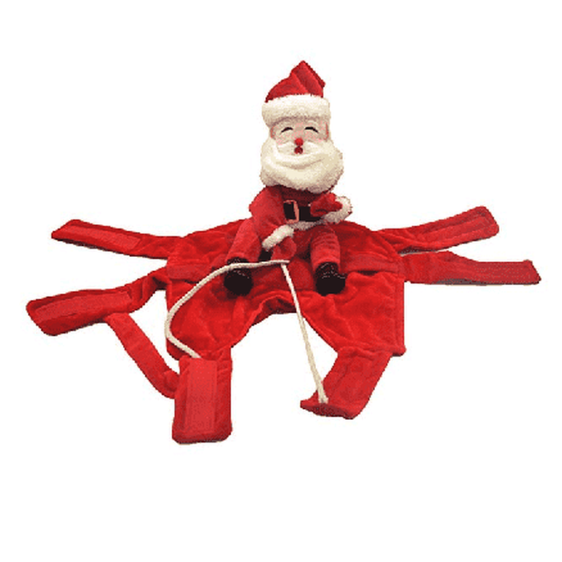 Santa Riding Dog Costume Pet Clothes Oberlo