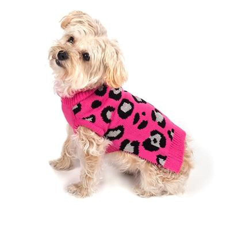 Cheetah Roll Neck Dog Sweater, Pet Clothes, Furbabeez, [tag]
