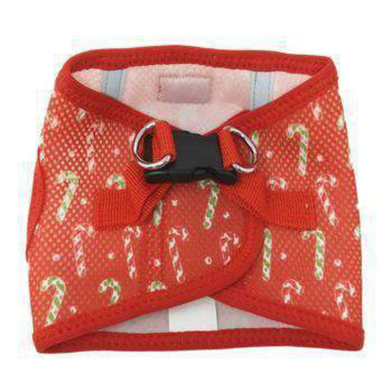 American River Choke Free Dog Harness Holiday Line - Candy Canes, Collars and Leads, Furbabeez, [tag]