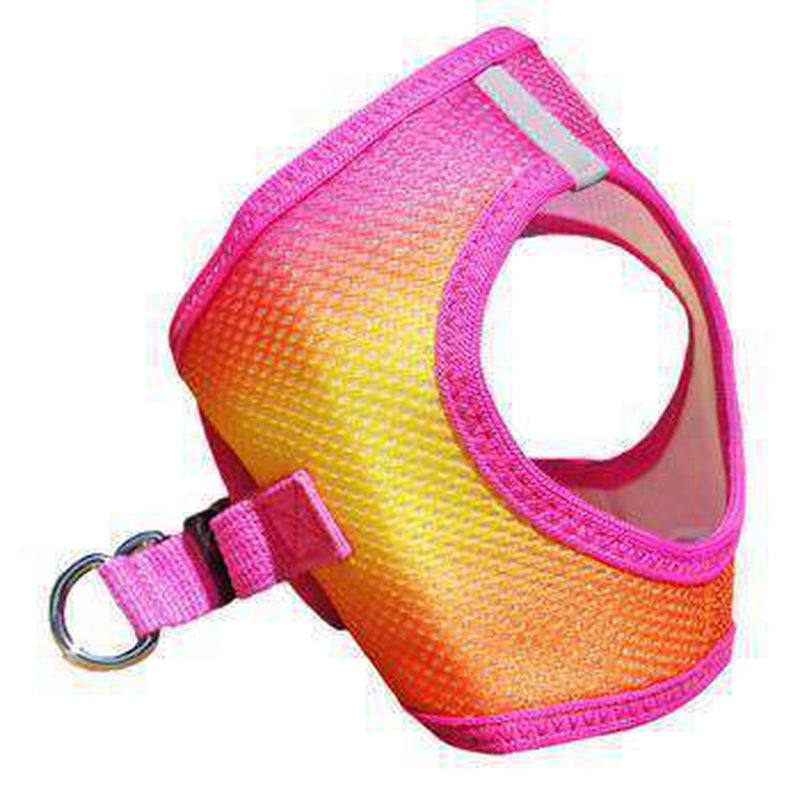 American River Choke-Free Dog Harness - Raspberry and Orange Sorbet Ombre, Collars and Leads, Furbabeez, [tag]