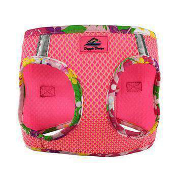 American River Choke Free Harness Hawaiian Trim - Candy Pink, Collars and Leads, Furbabeez, [tag]