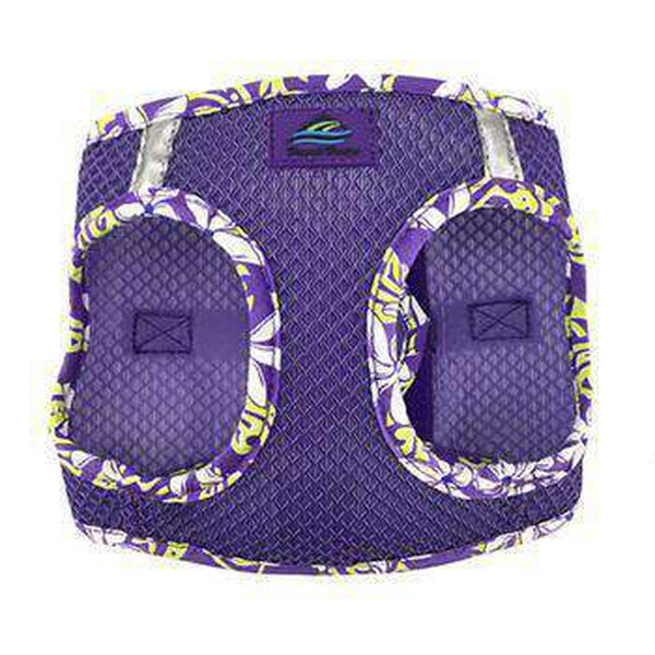 American River Choke Free Harness Hawaiian Trim - Paisley Purple, Collars and Leads, Furbabeez, [tag]
