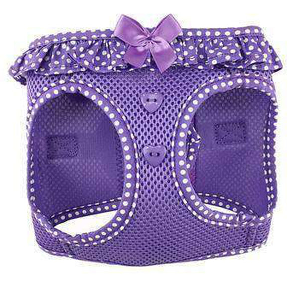 American River Choke-Free Dog Harness - Purple Polka Dot, Collars and Leads, Furbabeez, [tag]