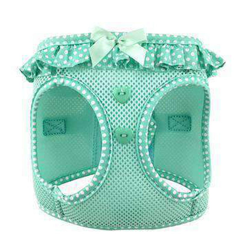American River Choke-Free Dog Harness - Teal Polka Dot, Collars and Leads, Furbabeez, [tag]