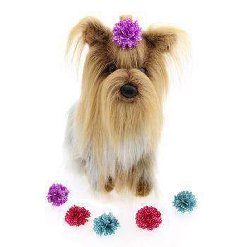 Aria Dot Rose Dog Bows, Pet Accessories, Furbabeez, [tag]