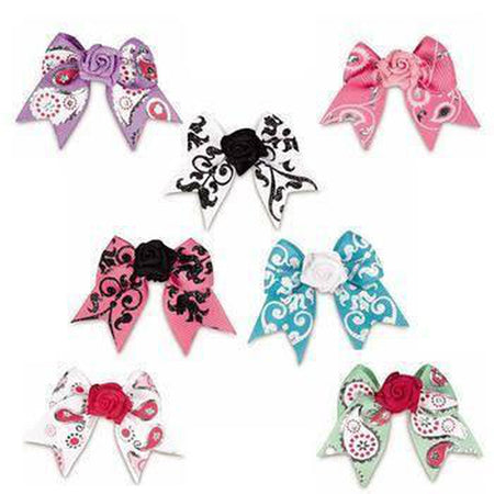 Aria Grosgrain Rosette Dog Hair Tie Bows, Pet Accessories, Pet Retail Supply, Furbabeez