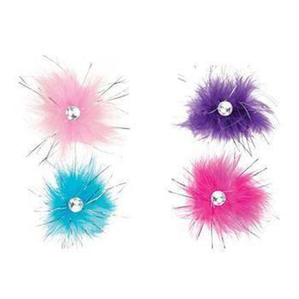 Aria Sparkle Feather Dog Hair Tie Bows, Pet Accessories, Pet Retail Supply, Furbabeez