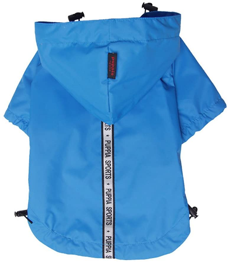 Base Jumper Raincoat Pet Clothes Puppia Blue Small