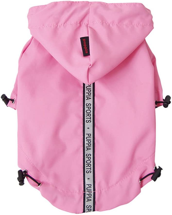 Base Jumper Raincoat Pet Clothes Puppia Pink Small