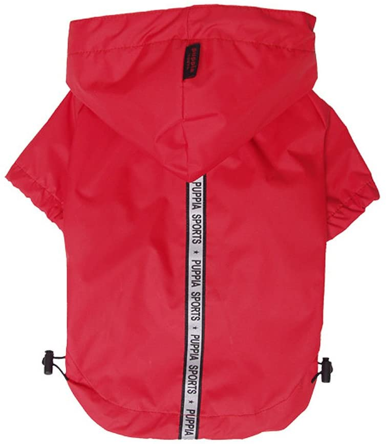 Base Jumper Raincoat Pet Clothes Puppia Red Small