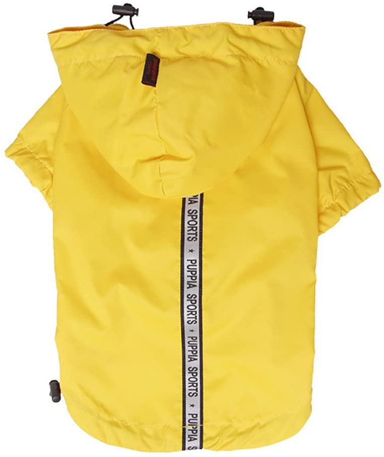 Base Jumper Raincoat Pet Clothes Puppia Yellow Small
