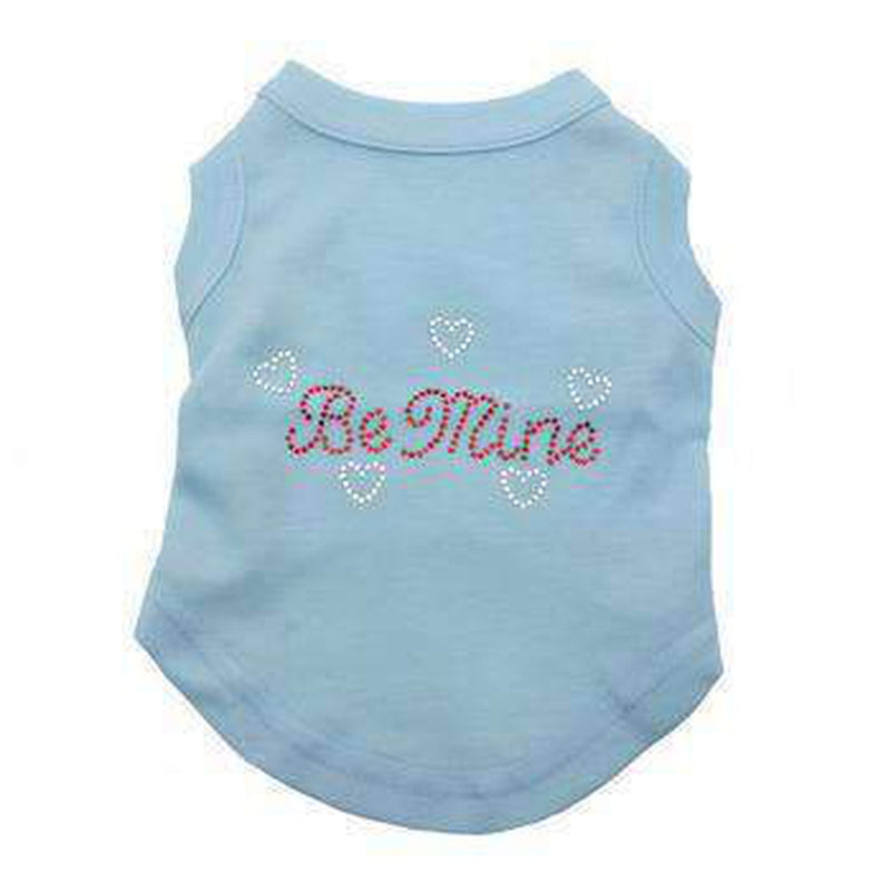 Be Mine Rhinestone Dog Tank - Baby Blue, Pet Clothes, Furbabeez, [tag]