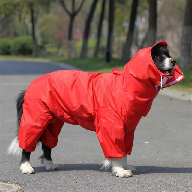 Big Dog Raincoat Pet Clothes Oberlo Red 16